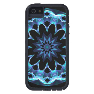 Crystal Star, Abstract Glowing Blue Mandala iPhone SE/5/5s Case
