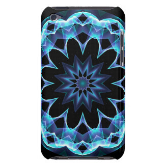 Crystal Star, Abstract Glowing Blue Mandala iPod Touch Case-Mate Case