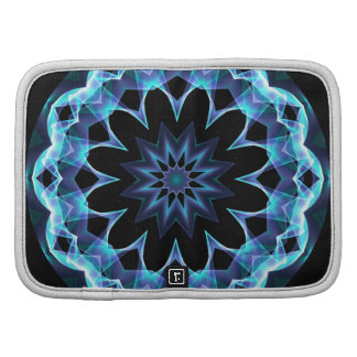 Crystal Star Abstract Glowing Blue Mandala Planners