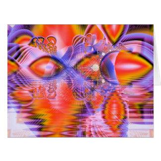 Crystal Star Dance, Abstract Purple Orange Card