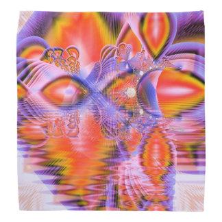Crystal Star Dance, Abstract Purple Orange Do-rags