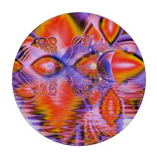 Crystal Star Dance, Abstract Purple Orange Set Of Poker Chips