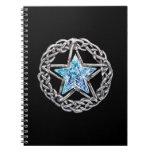 Crystal Star Spiral Notebook