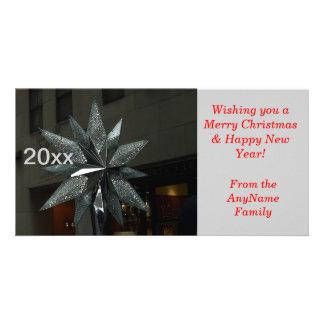 Crystal Star Yearly Holiday Photo Card
