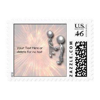 Crystal Starburst Handshake Stamps