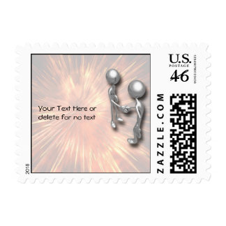 Crystal Starburst Handshake Stamp