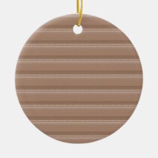 Crystal Stone Based Cream Brown Pattern NVN291 FUN Christmas Tree Ornament