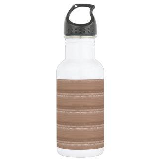 Crystal Stone Based Cream Brown Pattern NVN291 FUN Stainless Steel Water Bottle