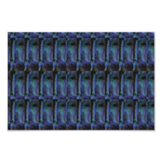 CRYSTAL Stone Dark Blue Positive Energy LOWPRICE Poster