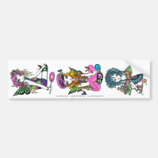 Crystal Sunny & Buttercup Rainbow Fae Sticker Set Car Bumper Sticker