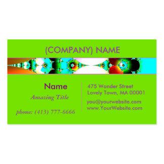 Crystal Sunrise, Abstract Fractal Rainbow 2 Business Card