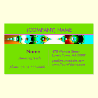 Crystal Sunrise, Abstract Fractal Rainbow 2 Double-Sided Standard Business Cards (Pack Of 100)