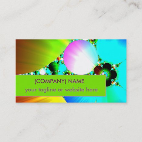 Crystal Sunrise, Abstract Fractal Rainbow Business Card