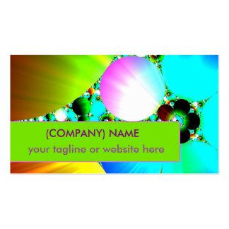 Crystal Sunrise, Abstract Fractal Rainbow Business Card