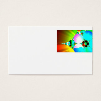 Crystal Sunrise - Abstract Fractal Rainbow Business Card