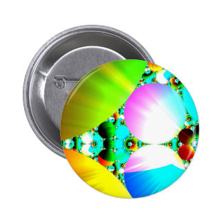 Crystal Sunrise - Abstract Fractal Rainbow Pin
