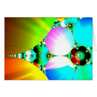 Crystal Sunrise - Abstract Fractal Rainbow Greeting Card