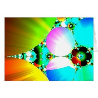 Crystal Sunrise - Abstract Fractal Rainbow Greeting Card