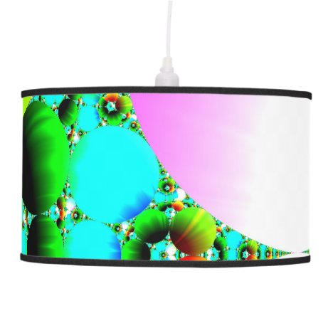 Crystal Sunrise, Abstract Fractal Rainbow Ceiling Lamp