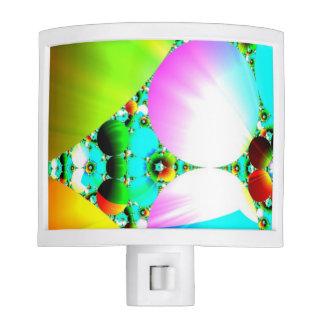 Crystal Sunrise, Abstract Fractal Rainbow Night Lights