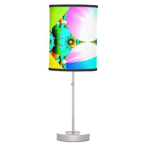 Crystal Sunrise, Abstract Fractal Rainbow Desk Lamp