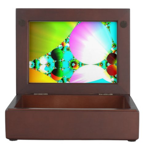 Crystal Sunrise, Abstract Fractal Rainbow Memory Box