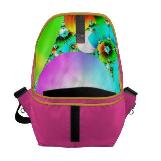 Crystal Sunrise - Abstract Fractal Rainbow Messenger Bag