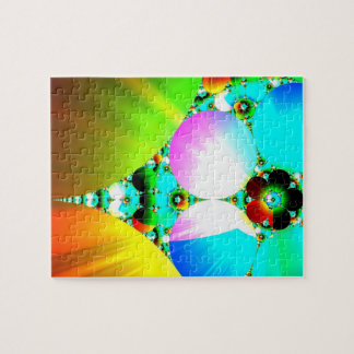 Crystal Sunrise - Abstract Fractal Rainbow Puzzle