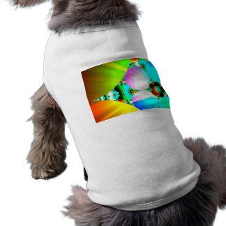 Crystal Sunrise, Abstract Fractal Rainbow T-Shirt
