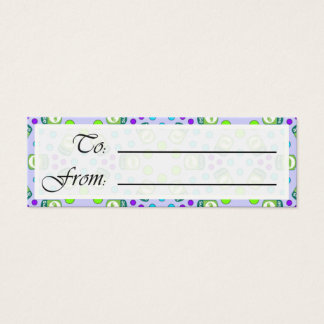 Crystal Suse Linux Gift Tag