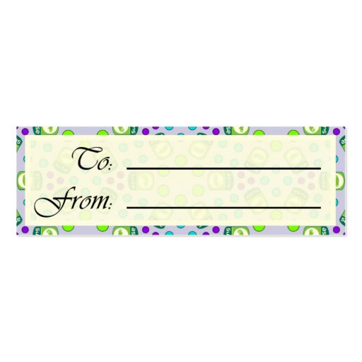 Crystal Suse Linux Gift Tag Business Cards
