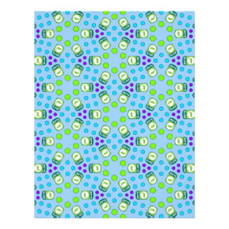 Crystal Suse Linux Scrapbook Paper Personalized Letterhead