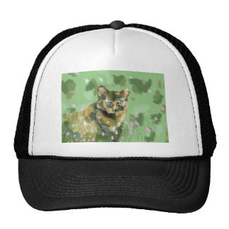 Crystal the feral cat trucker hat
