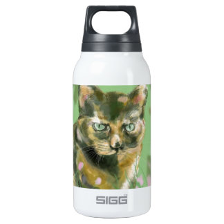 Crystal the feral cat insulated water bottle
