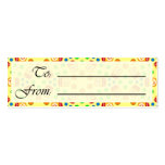 Crystal Ubuntu Linux Gift Tag Double-Sided Mini Business Cards (Pack Of 20)