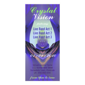 Crystal Vision Event Flyer Custom Rack Card