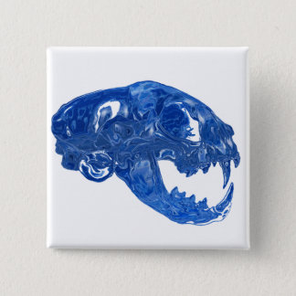 Crystal Water Cat Skull Button