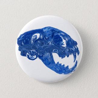 Crystal Water Cat Skull Pinback Button
