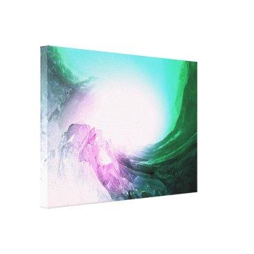 Art Themed Crystal Wave Canvas Print