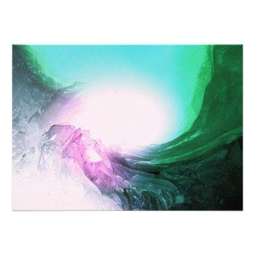 Art Themed Crystal Wave Photo Print