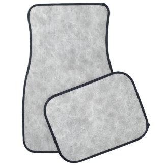 Crystal White Stone Pattern Background - Elegant Car Floor Mat