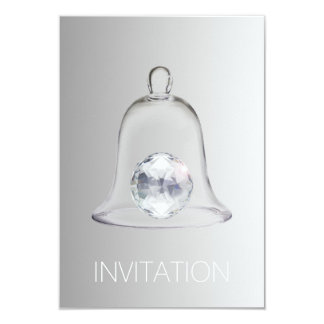 Crystal White Swarovski Club Party Vip Invitation