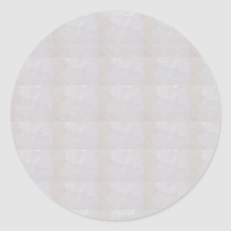 CRYSTAL WHITE TINT customizable to other SHAPES Classic Round Sticker