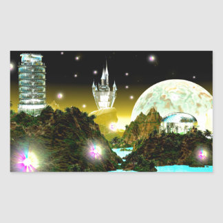 CRYSTAL WORLD BY CHELLEA RECTANGULAR STICKER