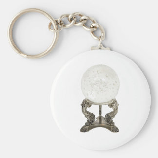 CrystalBall080709 Basic Round Button Keychain
