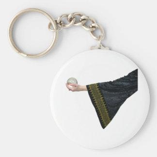 CrystalBallGypsy032109 Basic Round Button Keychain