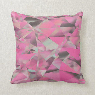 Crystalised - pink throw pillow