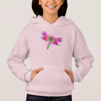 Crystalized Dragonfly (pink) Hoodie