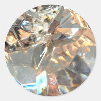 Crystalized Pegatina Redonda