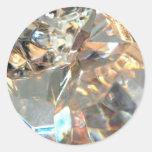 Crystalized Round Sticker